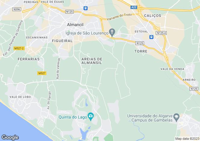 Map for Fine Villa, Quinta Do Lago