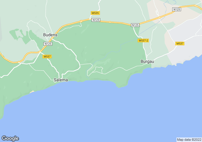 Map for Portugal - Algarve, Burgau