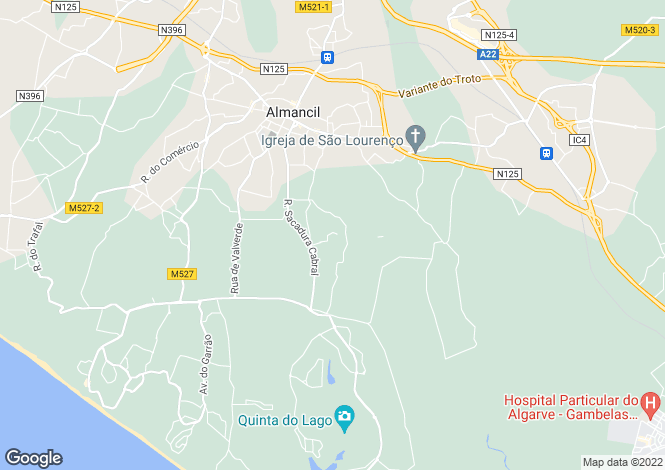 Map for Algarve, Almancil