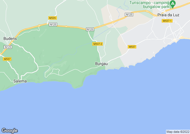 Map for Superior Two Bedroomed Linked Villa, Burgau