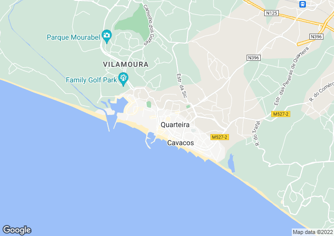 Map for Portugal,Algarve,Vilamoura