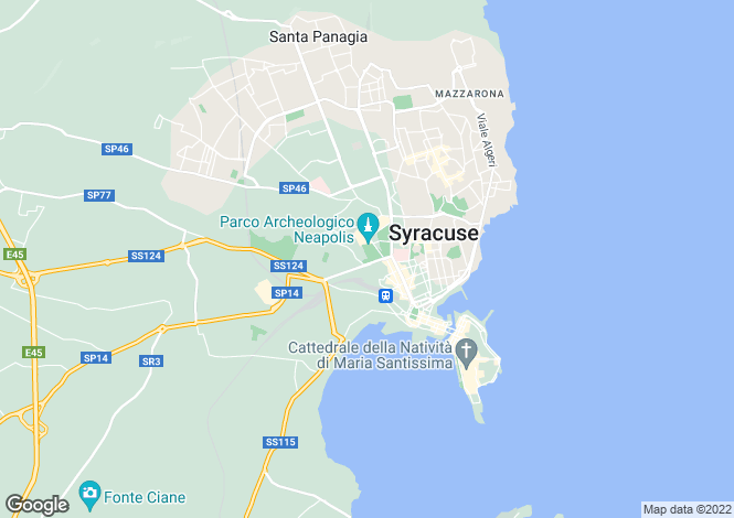 Map for Syracuse, Siracusa