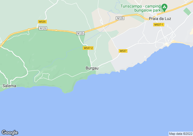 Map for Burgau, Algarve