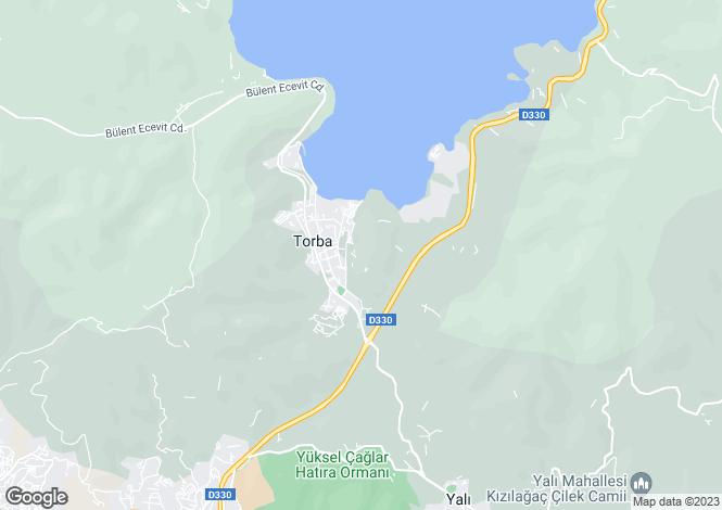 Map for Mugla, Bodrum, Torba
