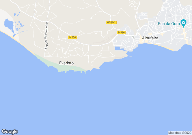 Map for Algarve, Sao Rafael