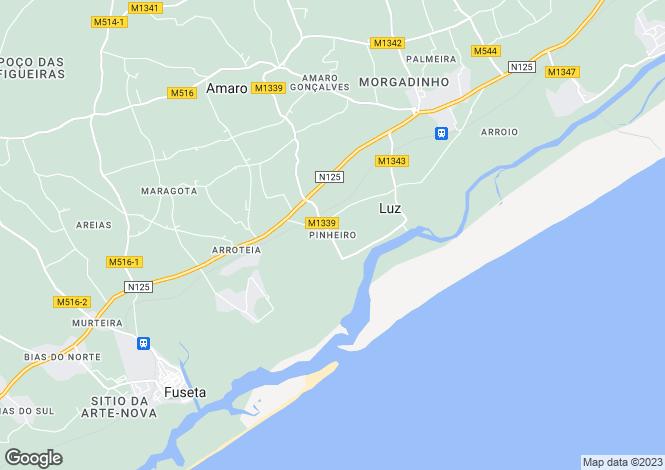 Map for Tavira, Portugal