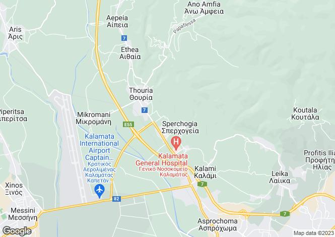 Map for Thouria, Messinia, Peloponnese