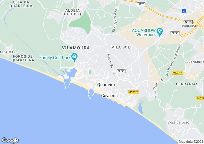 Map for Quarteira, Algarve