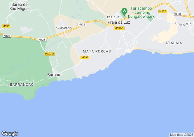 Map for Portugal - Algarve, Lagos