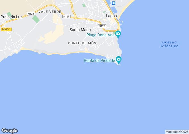 Map for Luz, Lagos, Faro