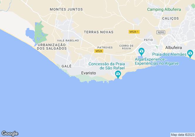 Map for Sao Rafael, Algarve