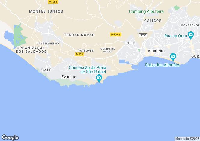Map for West Algarve, Algarve, Portugal