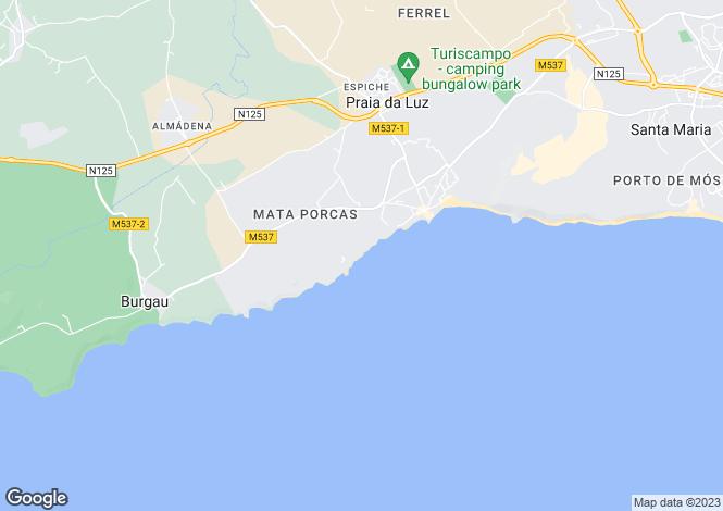 Map for Front Line Villa, Praia Da Luz, Algarve