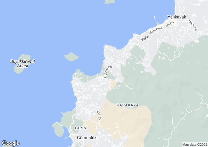 Map for Mugla, Bodrum, Yalikavak