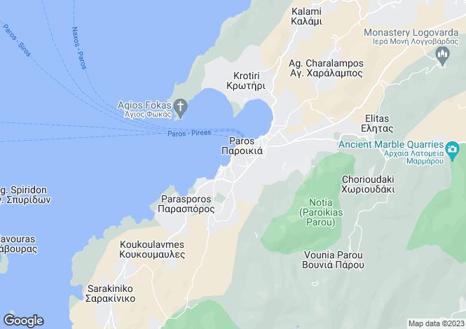 Map for Bethlehem Town House, Old Parikia Town, Paros Island