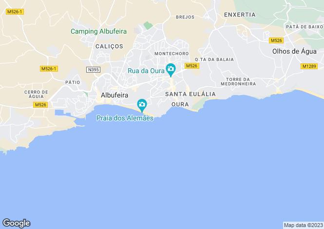 Map for Areias De S.joao, Algarve