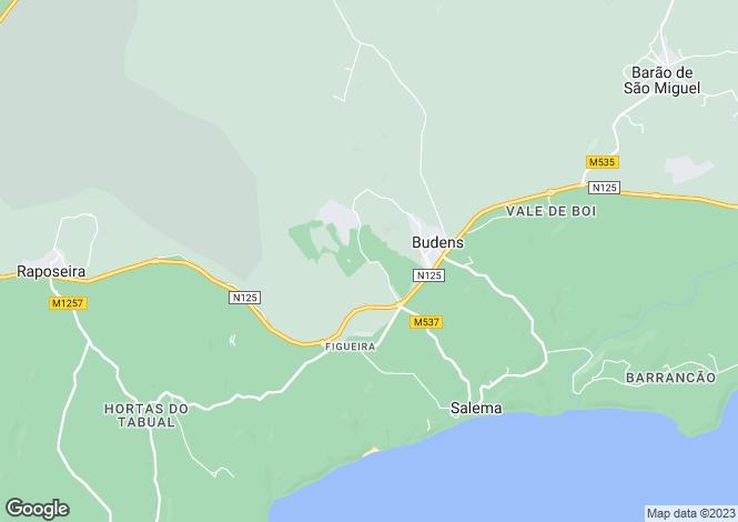 Map for Praia da Luz, Lagos, Algarve, Portugal