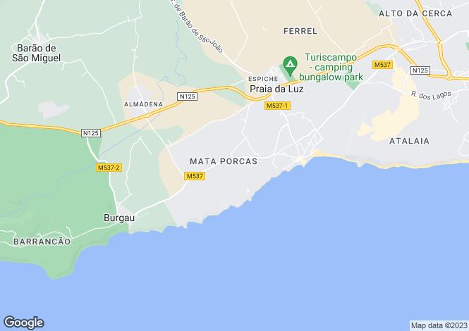 Map for Villa Under Construction, Praia Da Luz, Algarve