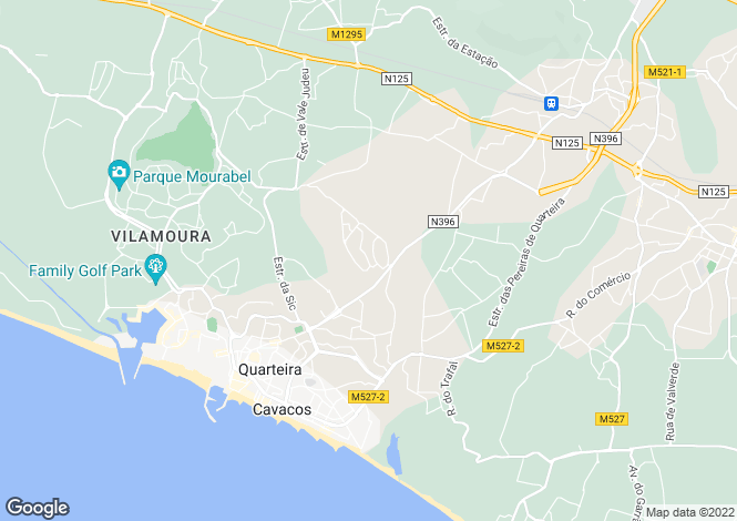 Map for Vilamoura, Portugal