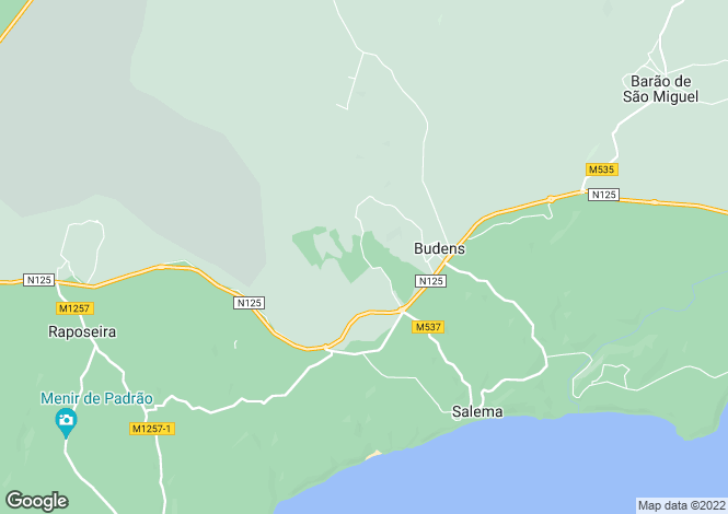 Map for Algarve, Parque da Floresta