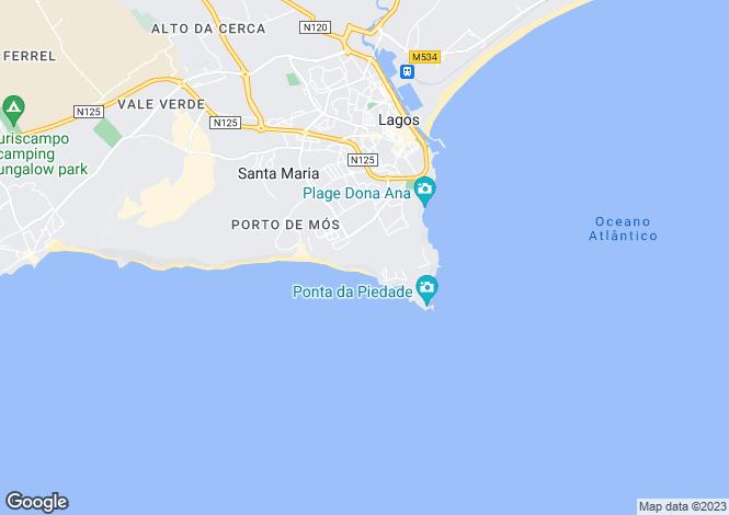 Map for Apartment Close To The Beach, Praia Da Luz, Algarve