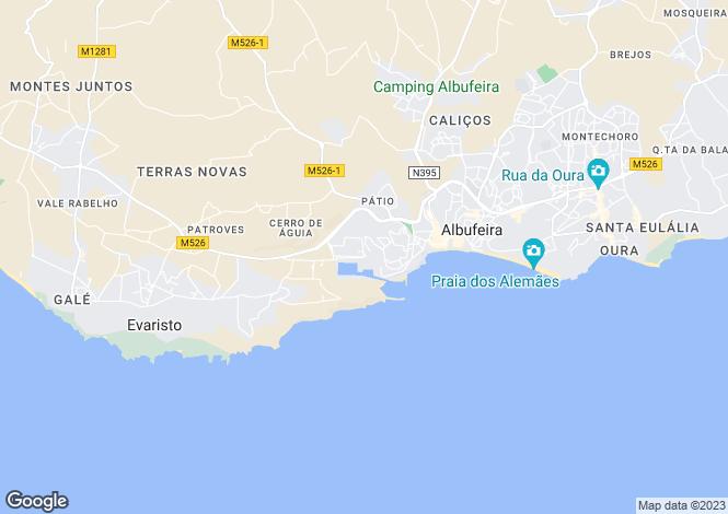 Map for Algarve, Marina De Albufeira
