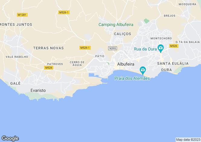 Map for West Albufeira, Algarve, Portugal