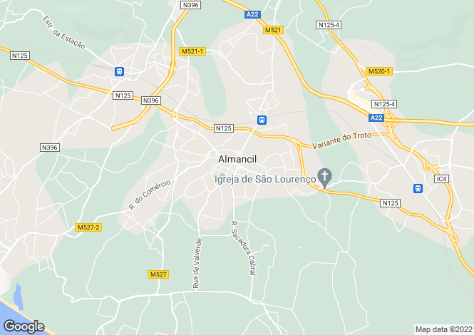 Map for Almancil, Algarve, Portugal