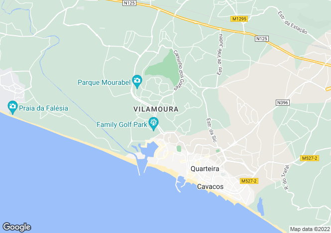 Map for Algarve, Quarteira