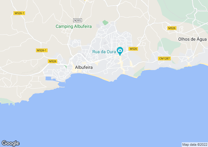 Map for Portugal - Algarve, Albufeira