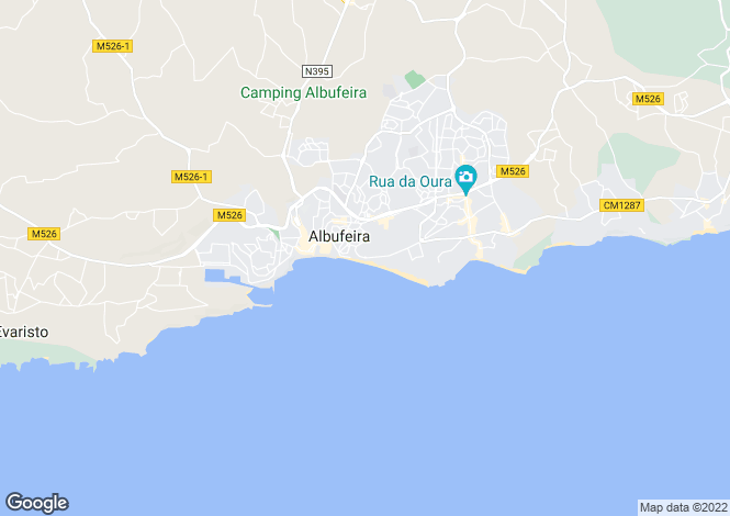 Map for Albufeira, Algarve