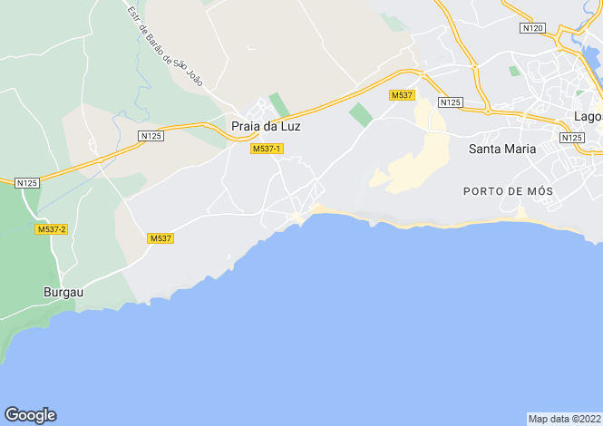 Map for Stylishly refurbished front line ocean view 4 bedroom villa, Praia da Luz