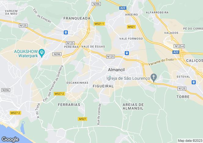 Map for Almancil, Algarve