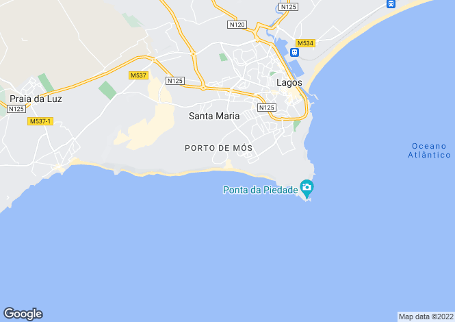 Map for Belmar Spa and Beach Resort, Lagos, Portugal