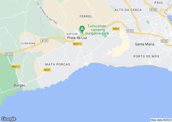 Map for Casa Das Tamaras, Praia Da Luz, Algarve