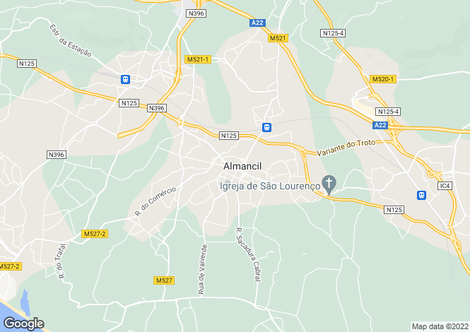 Map for Algarve, Almancil