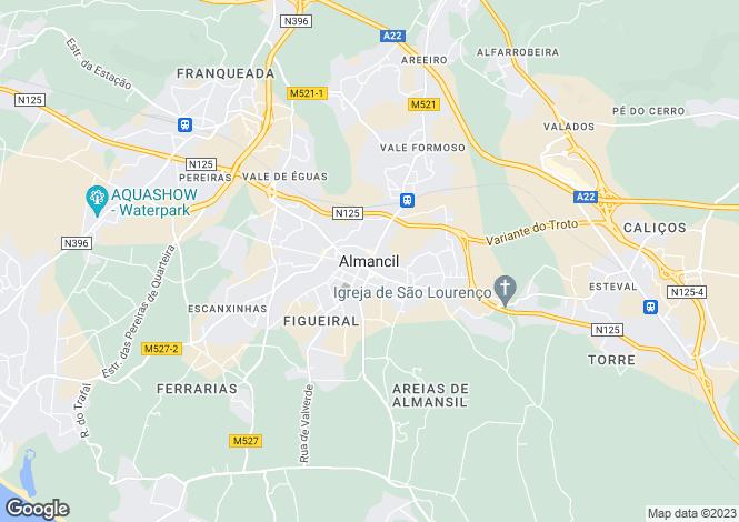 Map for Almancil, Portugal
