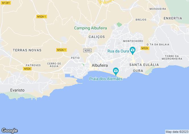 Map for Algarve, Albufeira