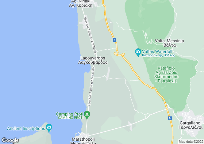 Map for Filiatra, Messinia, Peloponnese