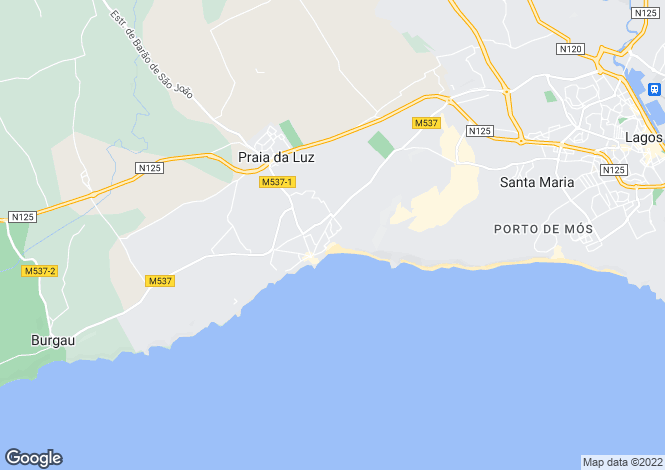 Map for Portugal,Algarve,Praia da Luz