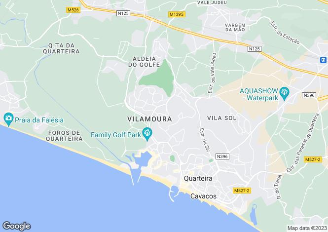 Map for Algarve, Vilamoura