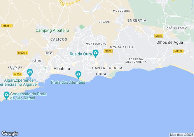 Map for Portugal,Algarve,Olhos D'Agua