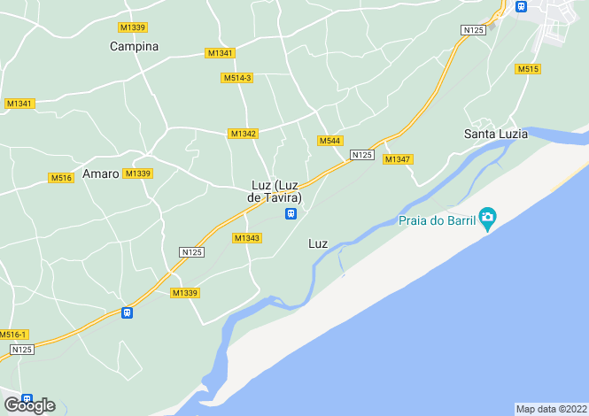 Map for Algarve, Luz De Tavira