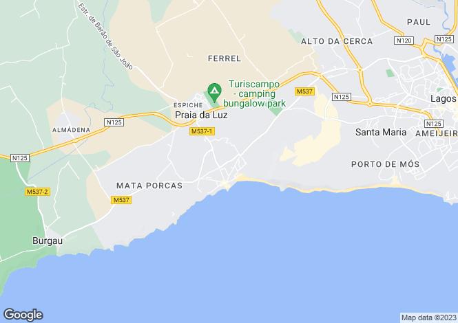 Map for Casa Catarina, Ramalhete, Praia Da Luz