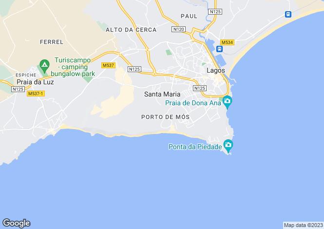 Map for Lagos (São Sebastião e Santa Maria), Lagos, Faro
