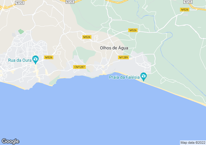 Map for Olhos D'agua, Algarve