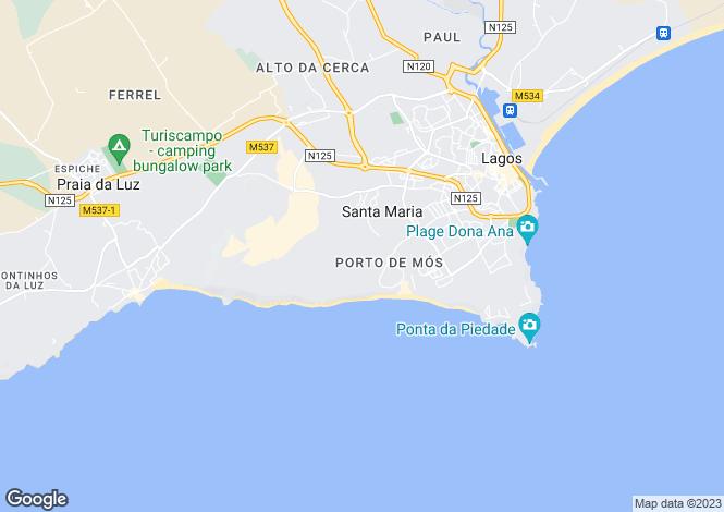 Map for Algarve, Porto De Mos