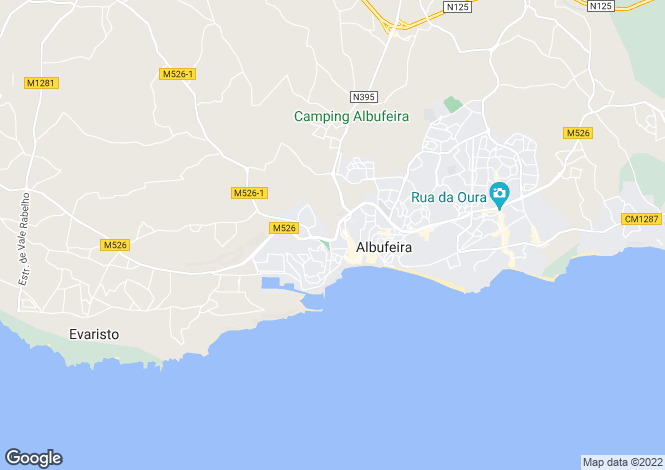 Map for Albufeira, Algarve, Portugal