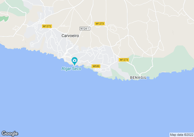 Map for 1 bed apartment with sea views