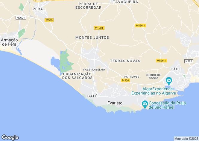 Map for Vale Rabelho, Algarve, Portugal